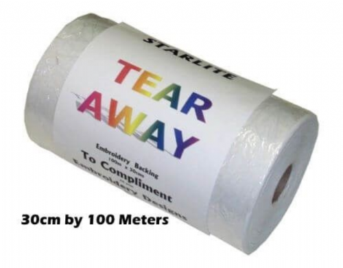 Tear Away Backing Stabiliser - 100 Metres x 30cms Roll